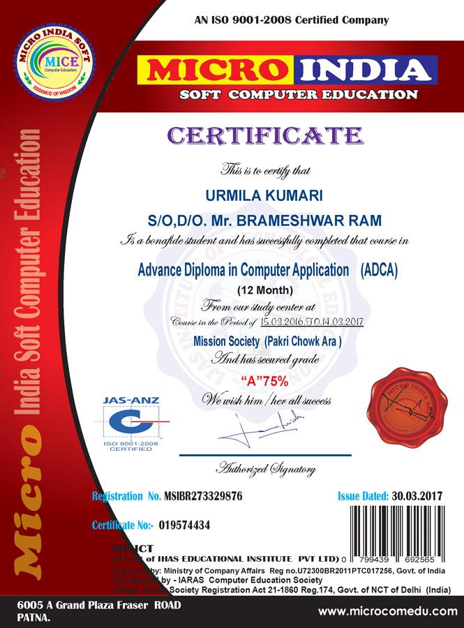 Sample Certificate | Certificate And Icard Sample Iaras